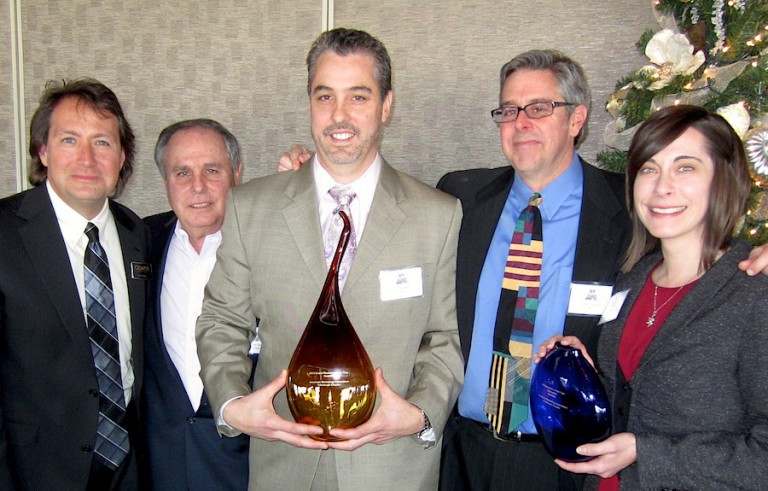 Rich Odato with Questeq leaders Ron and Jeff Main, Odato Marketing VP/GM Bruce Downing, and Questeq's Kyli Yerse at AMA Pittsburgh's Marketer of the Year awards.